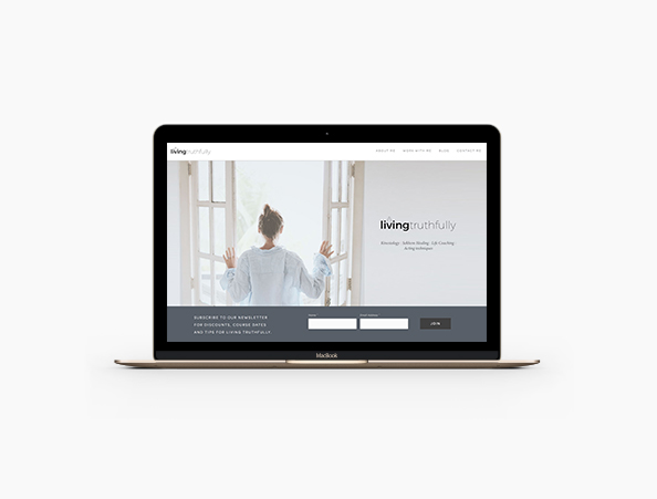 Living Truthfully - Art Direction | Website Design and Build