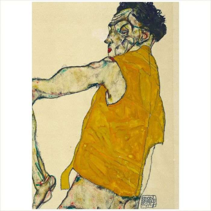 Yellow Waistcoat by Egon Schiele