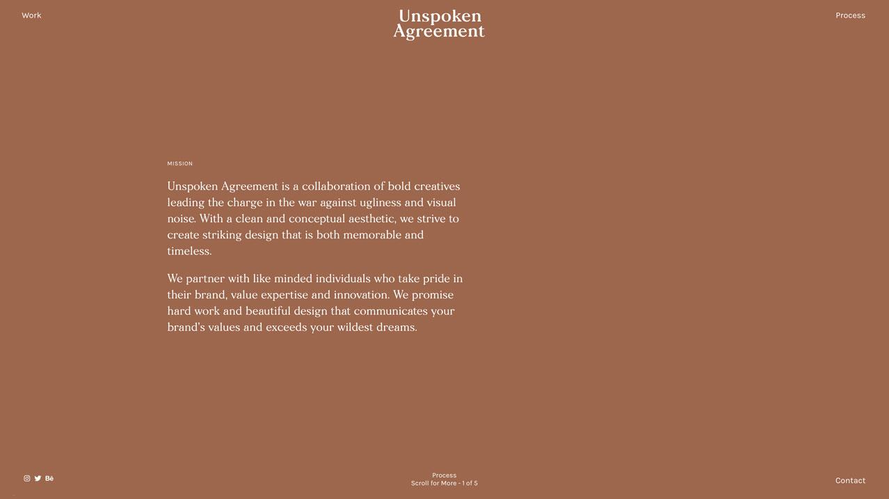 Unspoken Agreement  Fonts: Morion, Karla