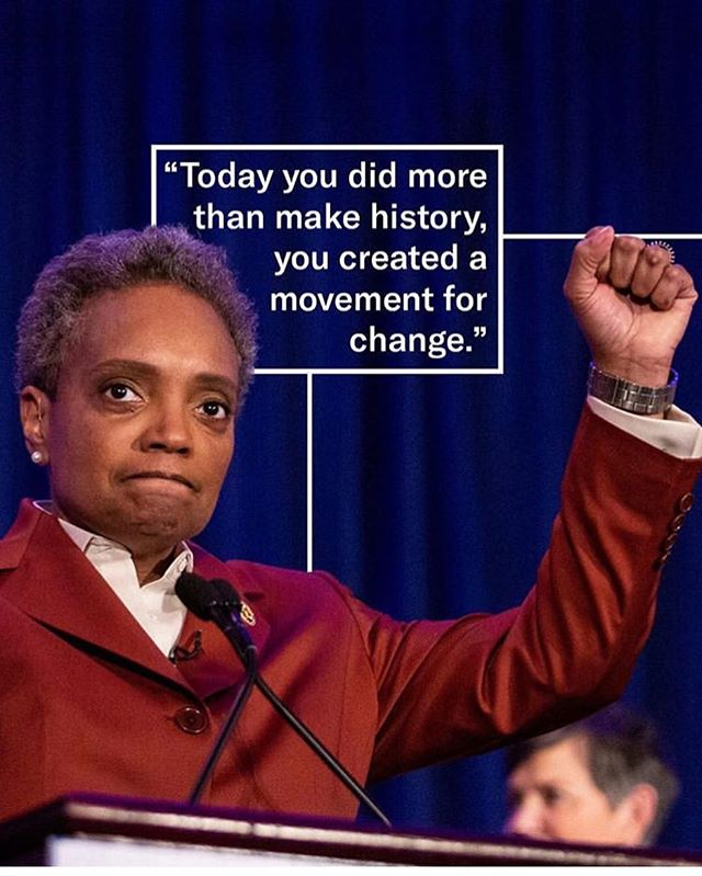 Chicago has elected Lori Lightfoot, a lesbian woman of color, as mayor! Lightfoot is first woman and first openly LGBTQIA+ to hold the position, and is providing representation for so many.🏳️‍🌈💕 #chicago #lorilightfoot