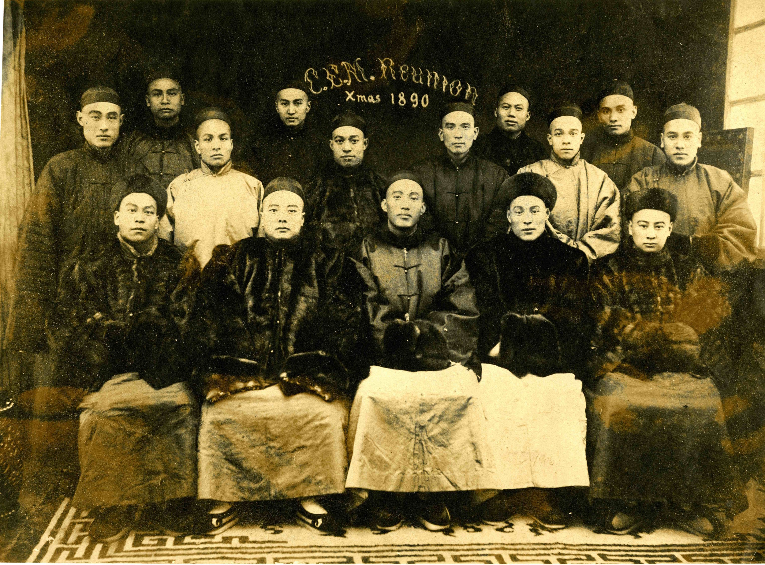 """""""A reunion of the [CEM]students in China,Christmas,1890,""""Thomas E. LaFargue Papers, 1873-1946,2-1-4, courtesy Manuscripts, Archives, and Special Collections, Washington State University Libraries."""