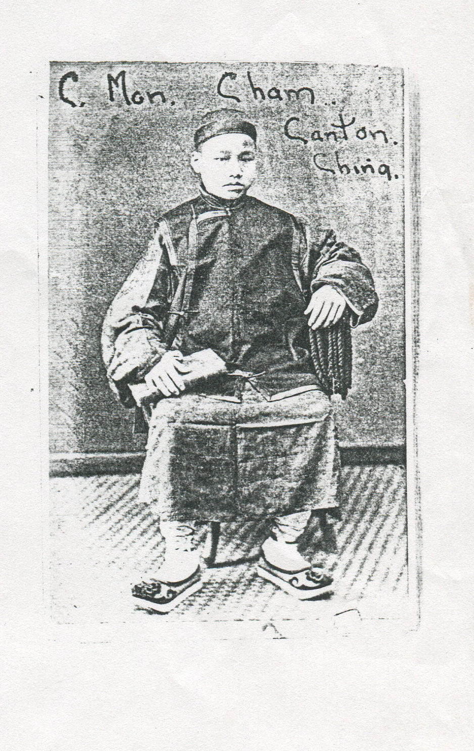 Photograph of Cheong. Courtesy Wilbraham Monson Academy Archives.