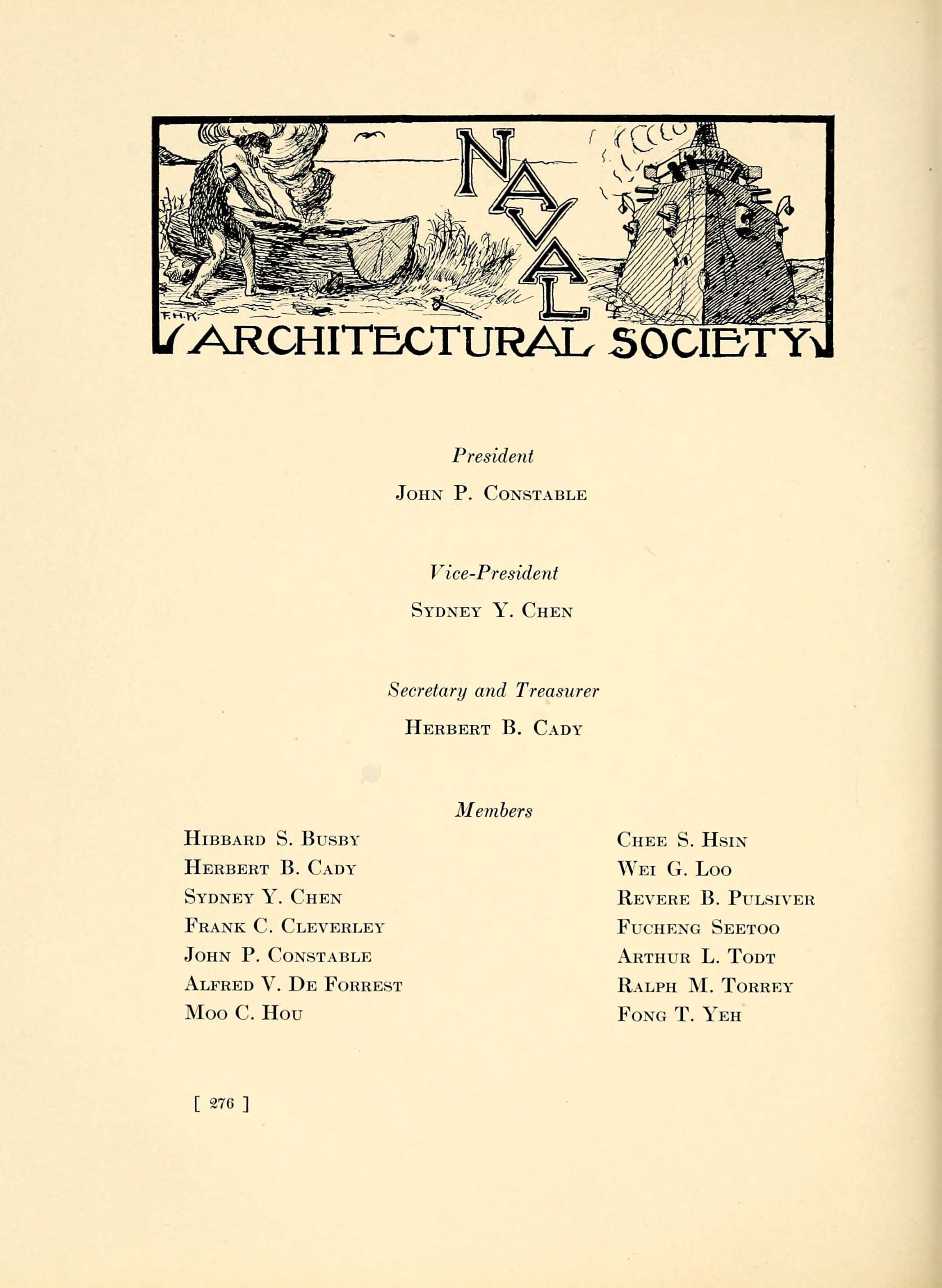 Naval Architectural Society for 1912. MIT Technique 1913.
