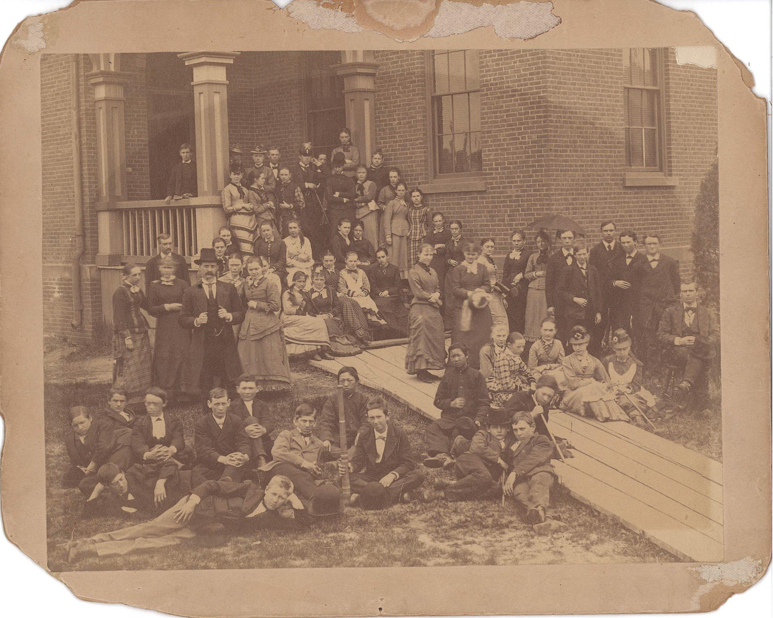 Sik at the Holyoke Public High School ca. 1878. Image courtesy the Holyoke History Room of the Holyoke Public Library, Holyoke, Massachusetts.