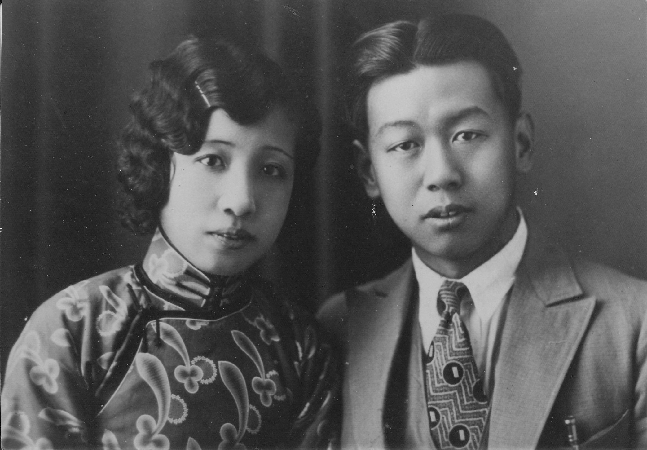 Lee and Kuan, ca. 1925, before coming to MIT. Image courtesy Ami Kuan Danoff.