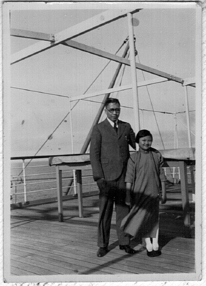 With Mary on a President line trip to Japan, c. 1933.