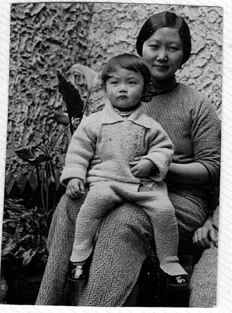 at brother's house, 1055 Yuyuan Road, Shanghai, c. 1934.