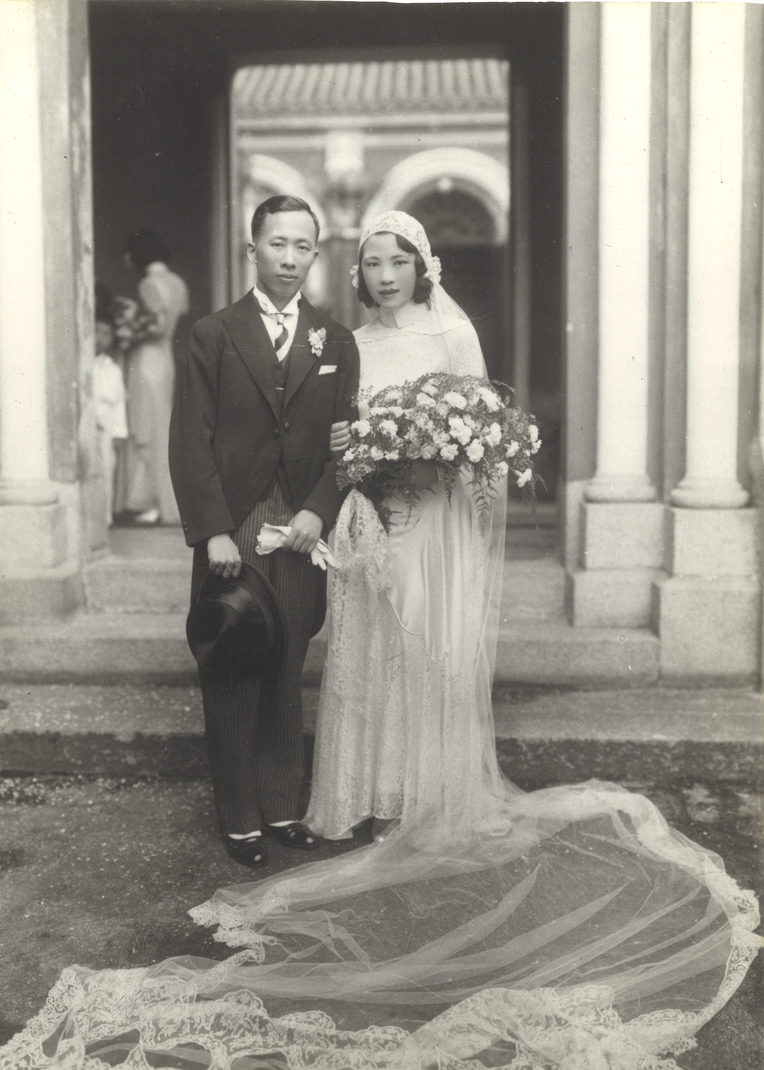 CH Lam and WK Au wedding, Union Church Hong Kong, 1932. Courtesy Dr. Samuel Lam.