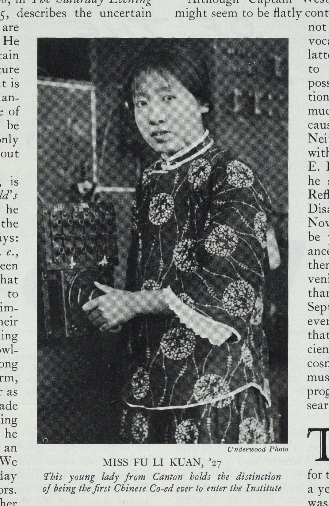 Lee at MIT's radio experiment station, Technology Review, vol 28, Feb 1926, 193. Image courtesy MIT Archives and Special Collections.