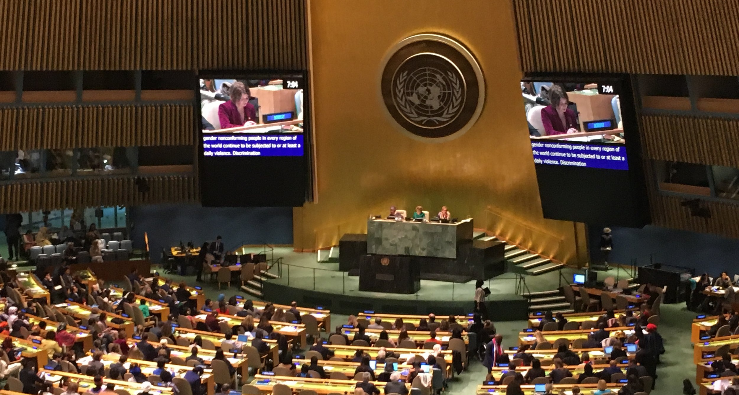 Norway Speaking on behalf of the LGBT Core Group in the General Assembly Hall