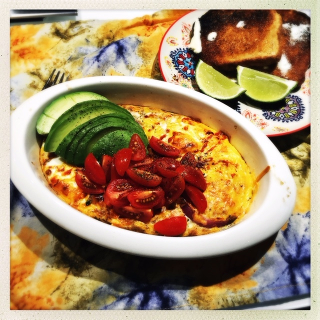 Ready to serve. Finish the eggs with whatever toppings you'd like, including hot sauce, cilantro, sour cream....