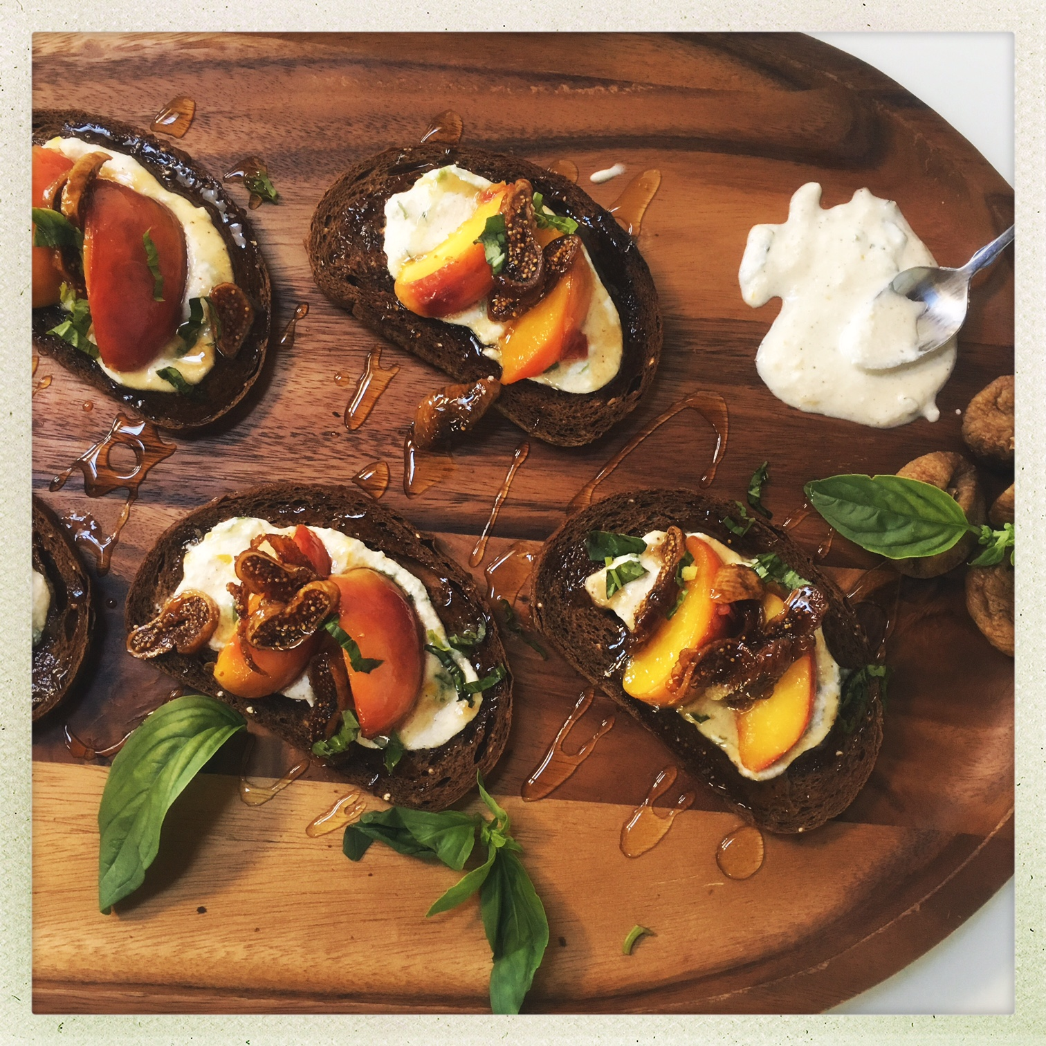 butter poached peaches with lemon herb ricotta on toast 5.jpg