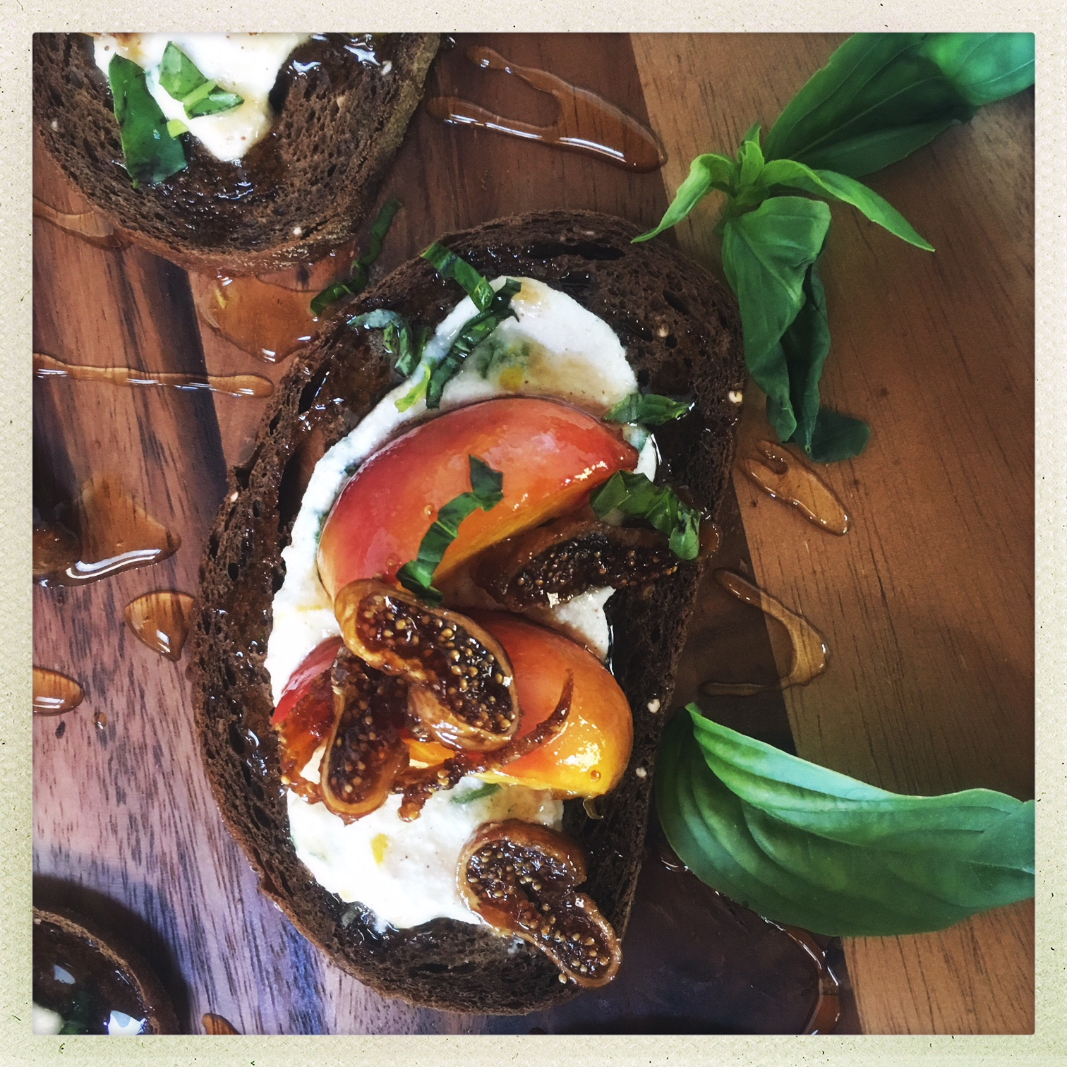 butter poached peaches with lemon herb ricotta on toast 9.jpg
