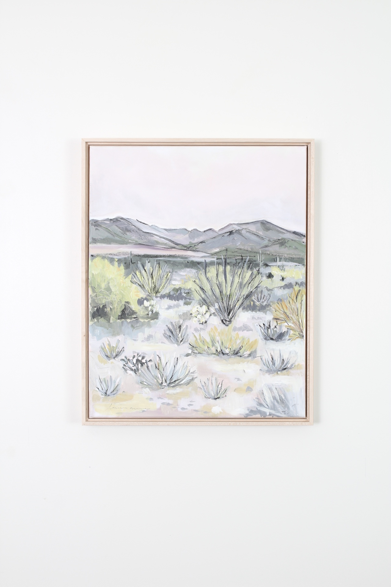 Laurie Anne Art desert blush painting