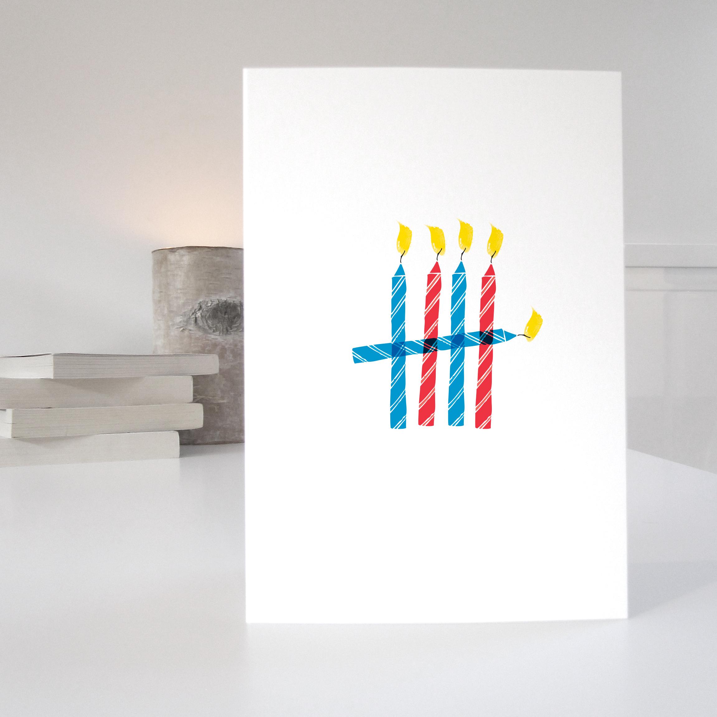 5th birthday card: NWC05