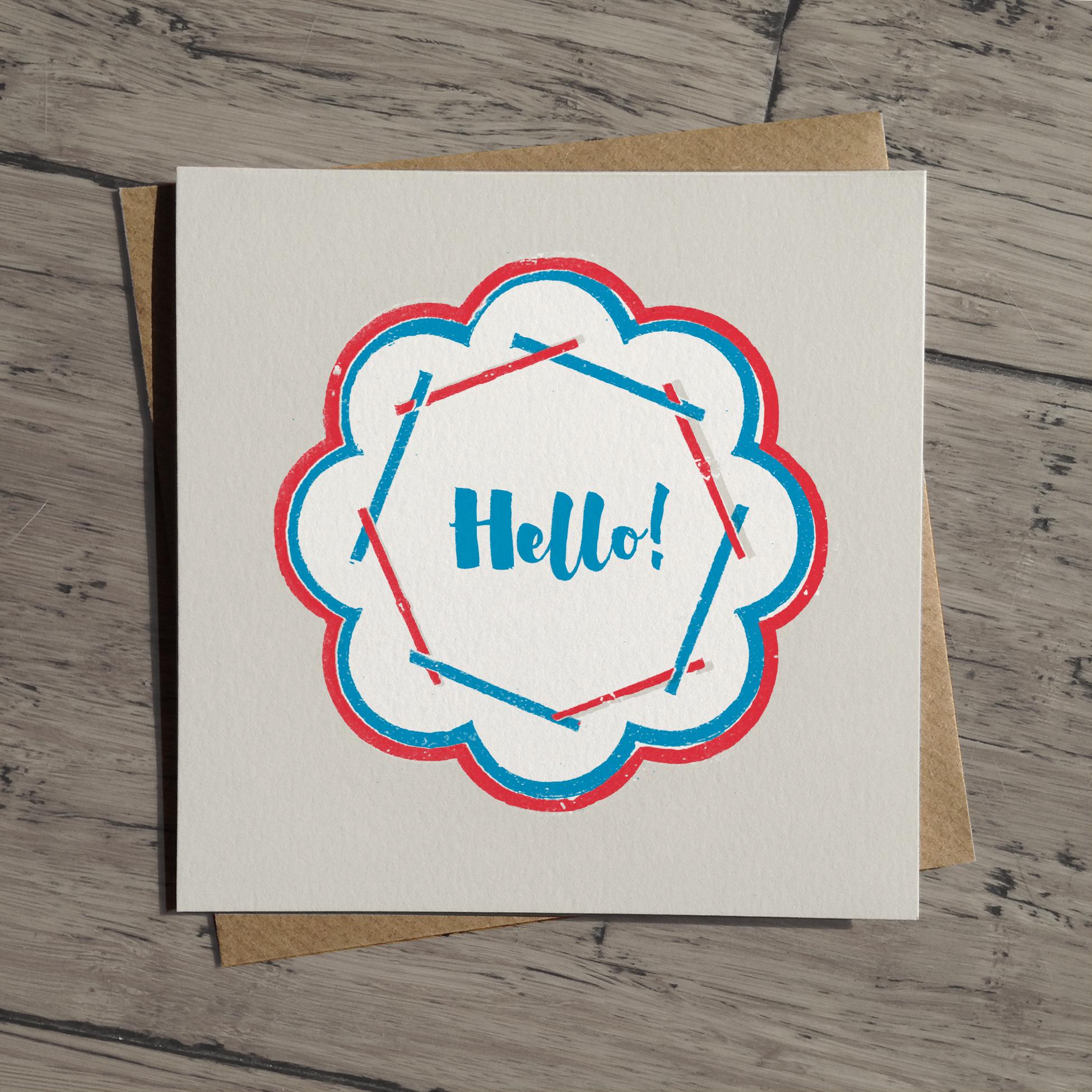 Hello card: WW02
