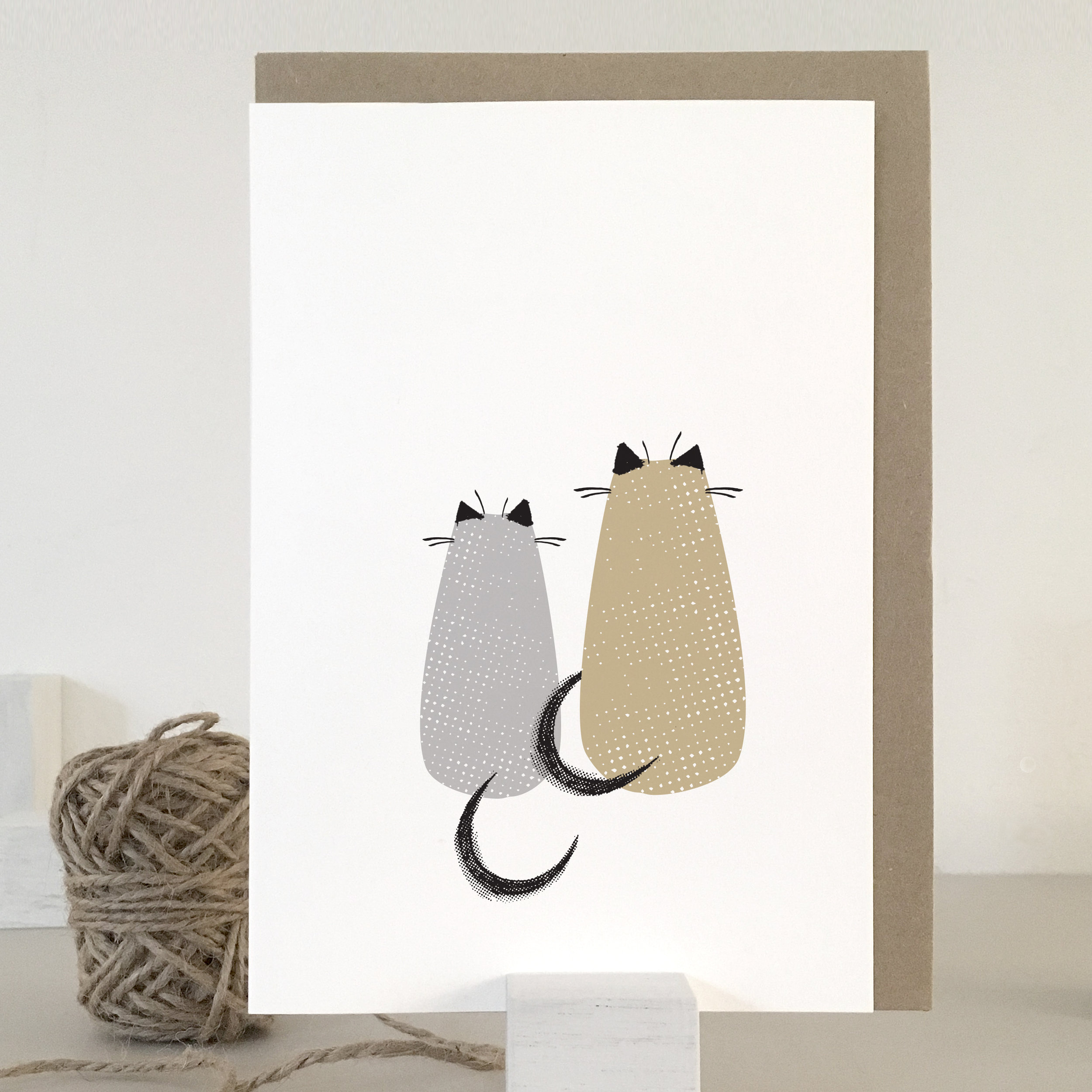 Love cats card: KC05