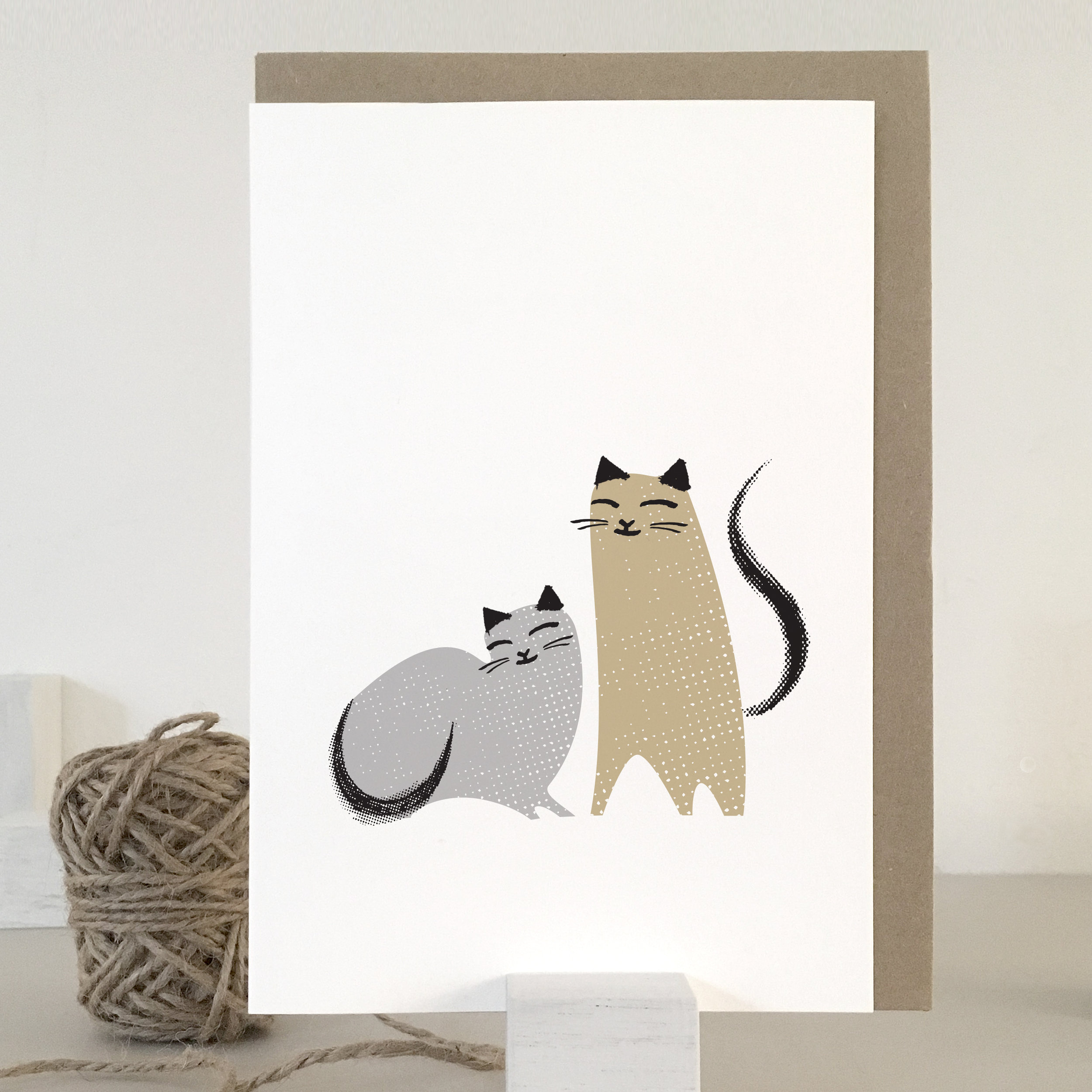 Love cats card: KC04