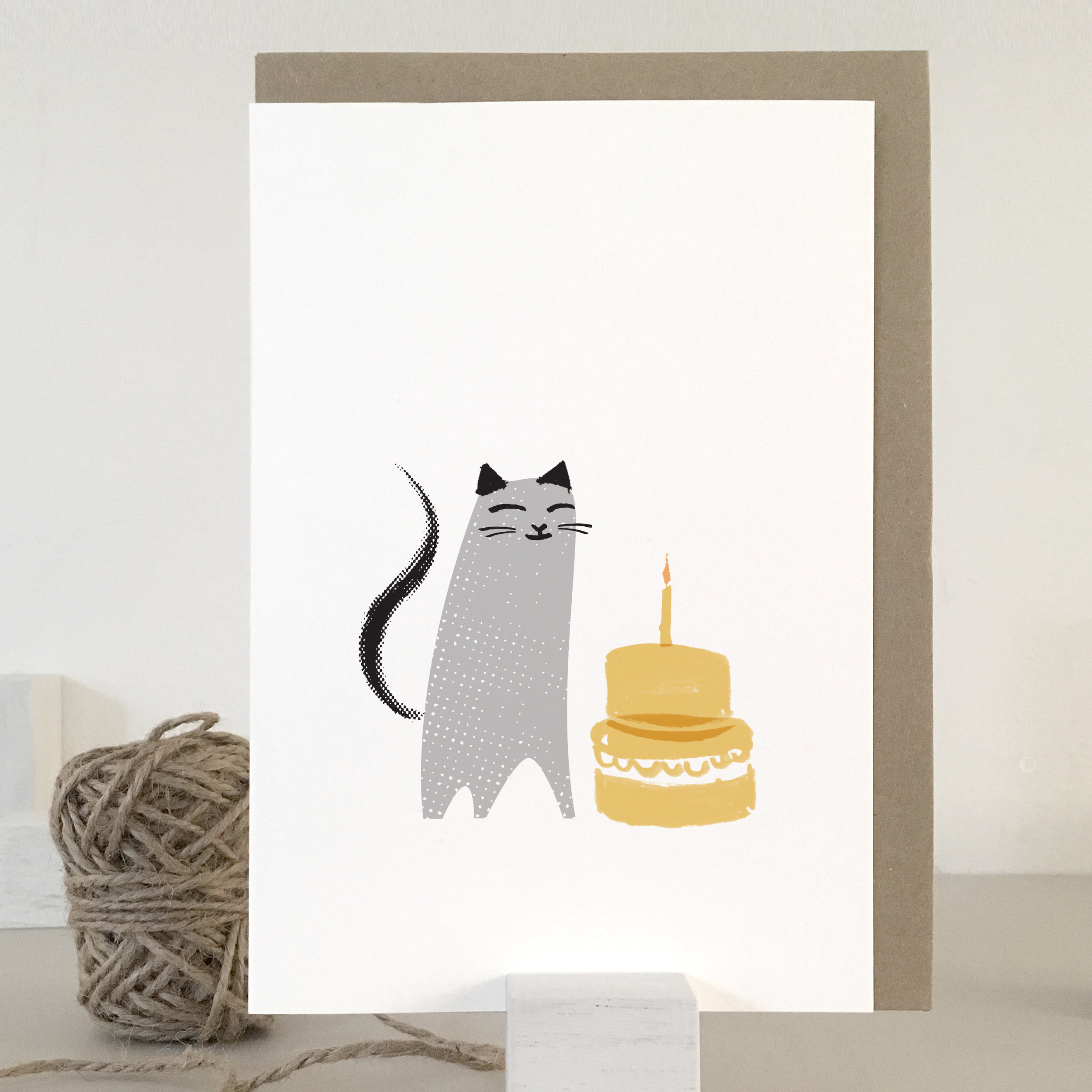 Birthday cat card: KC19