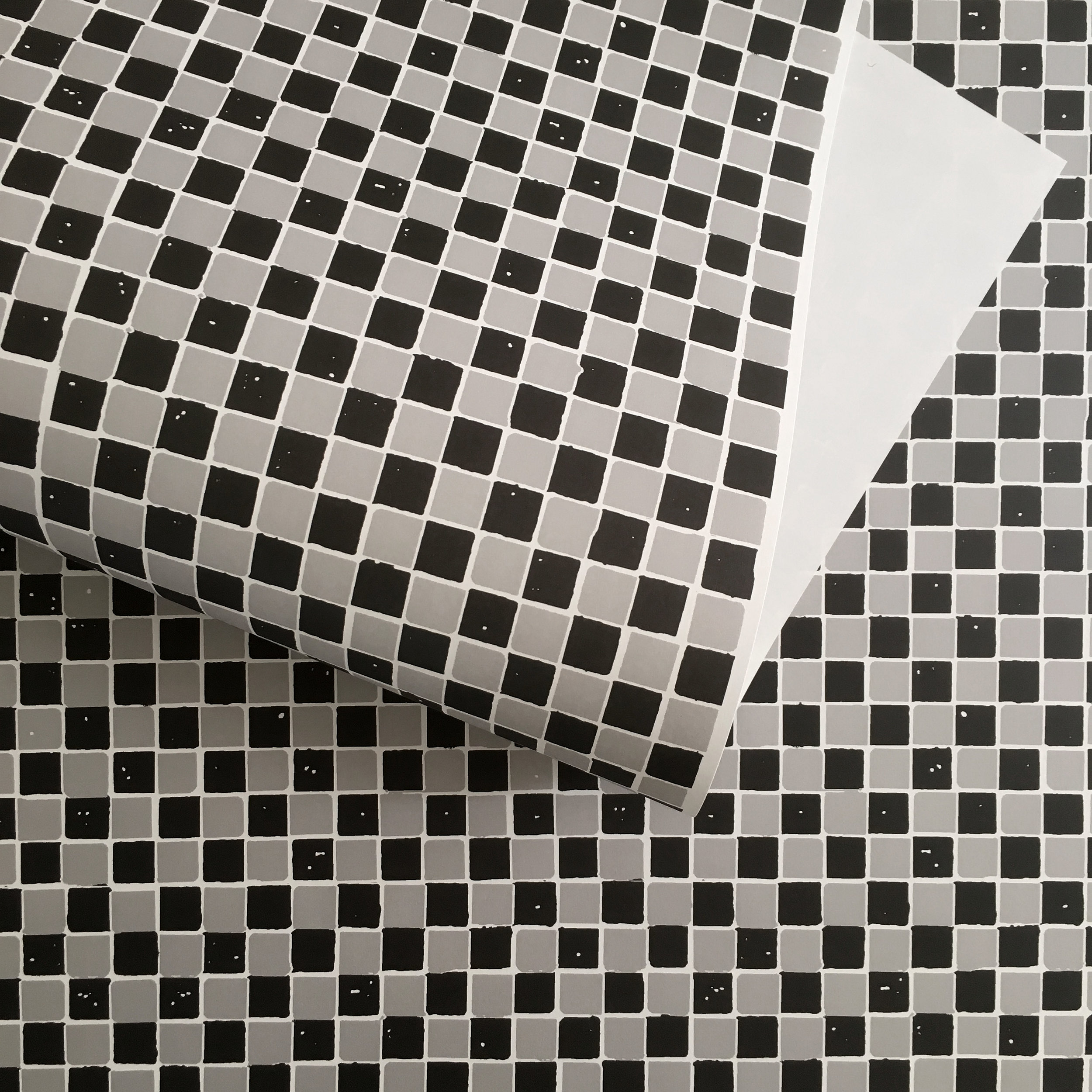 Wrapping paper, checkerboard b/g: WP_CBBG_01