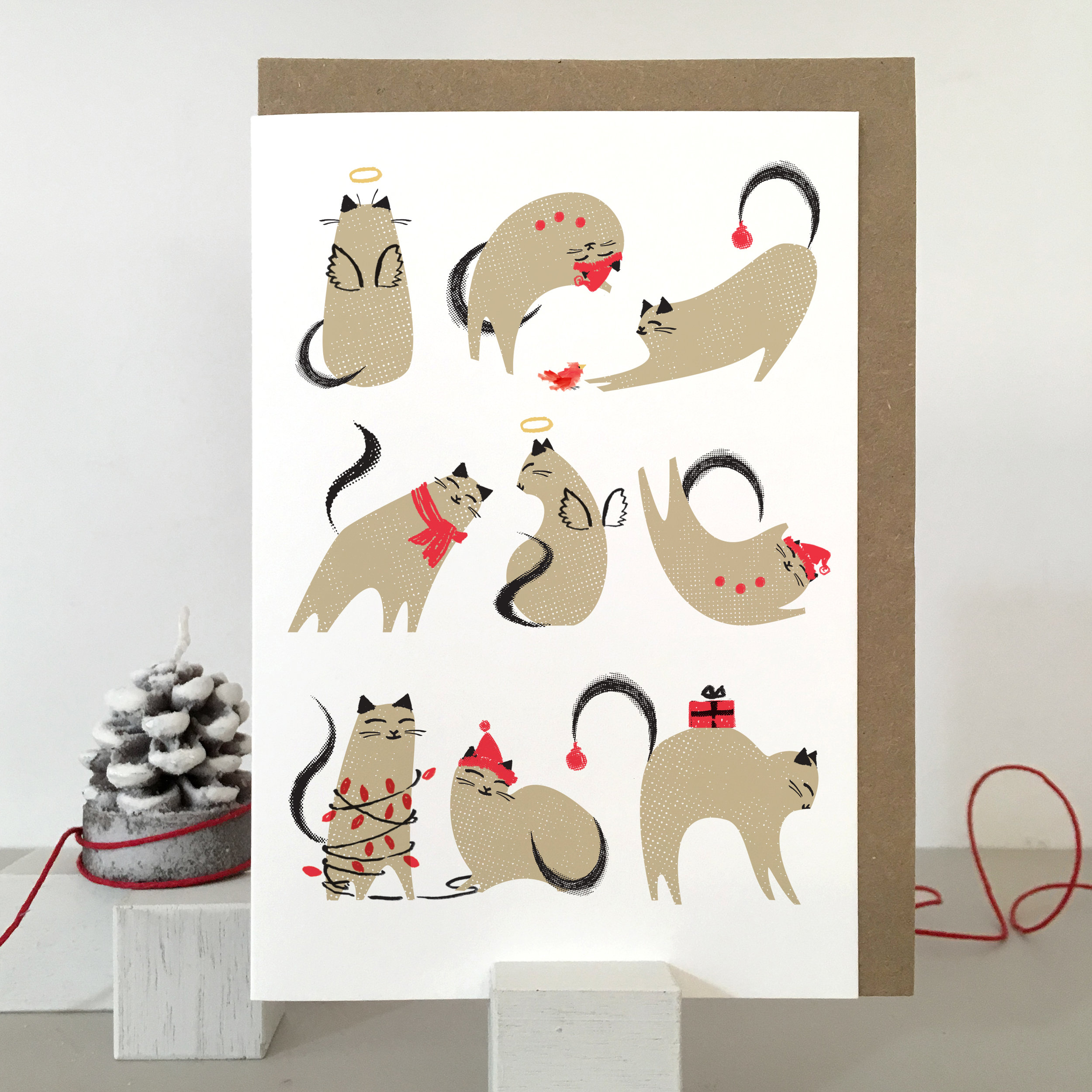Christmas cat card: KC23