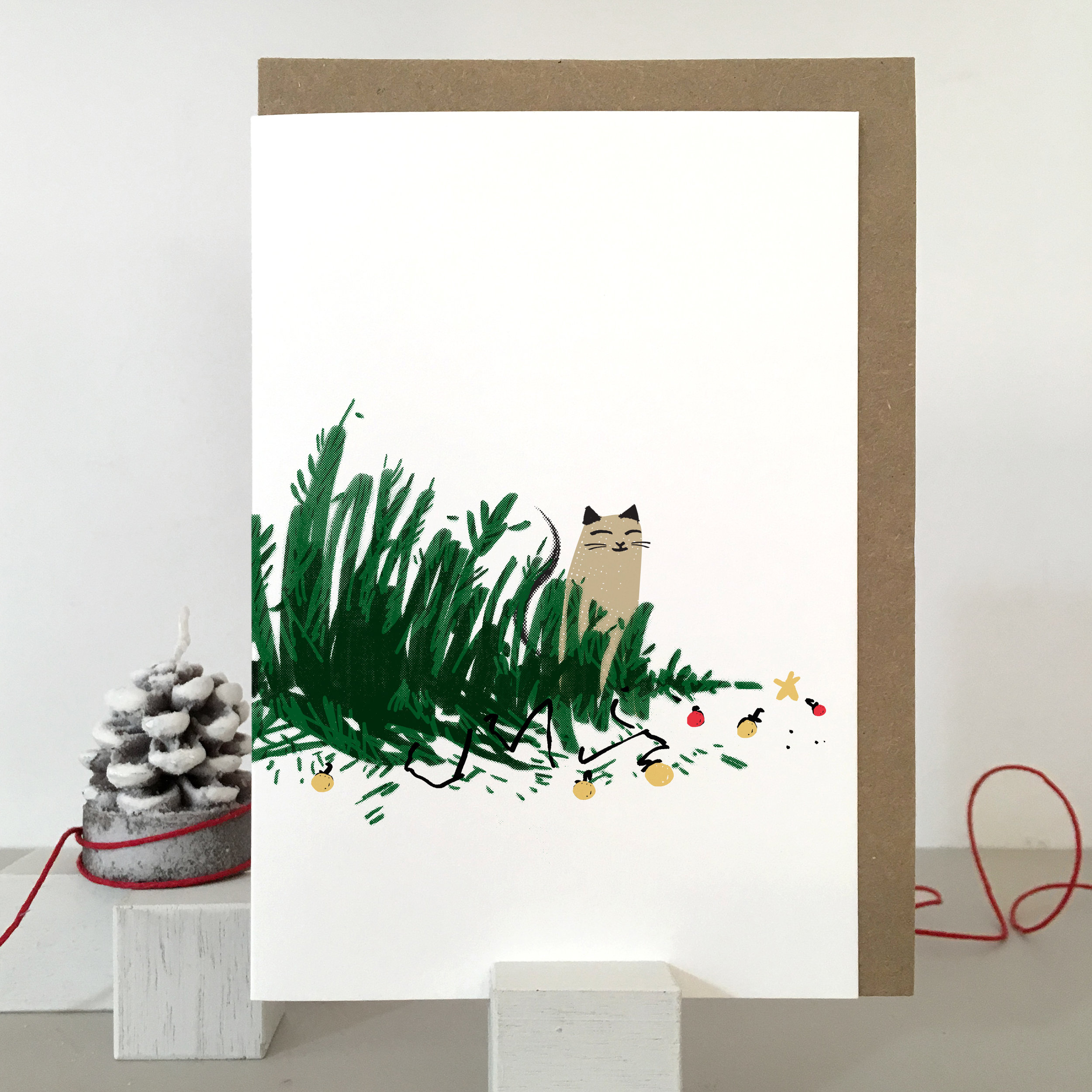 Christmas cat card: KC22