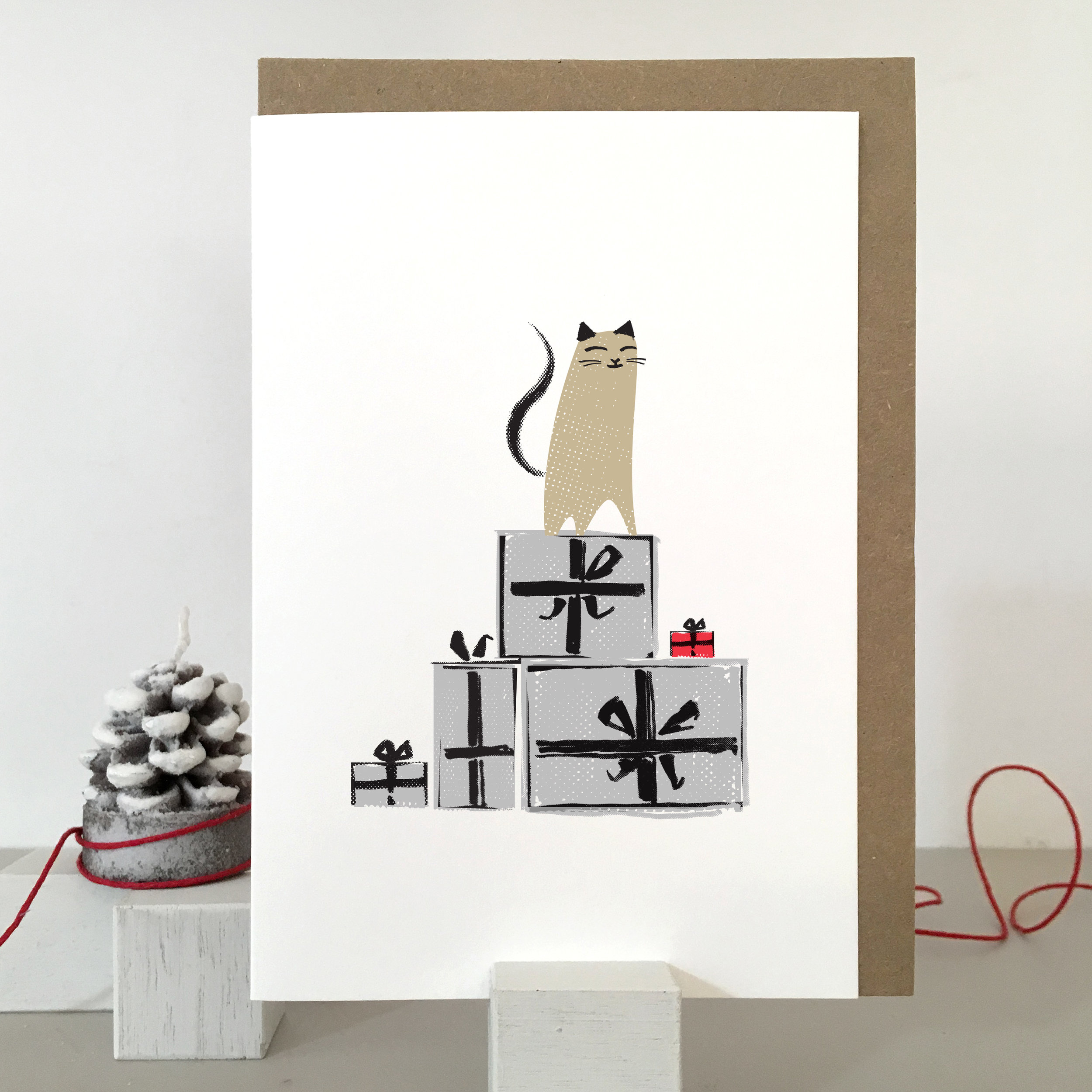 Christmas Cat card: KC29