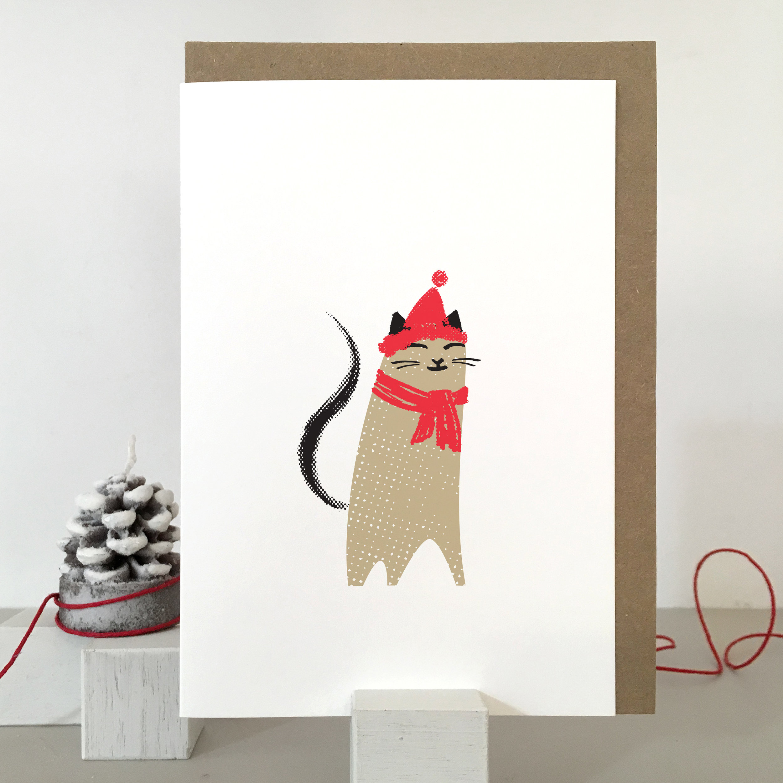 Cat christmas card: KC24