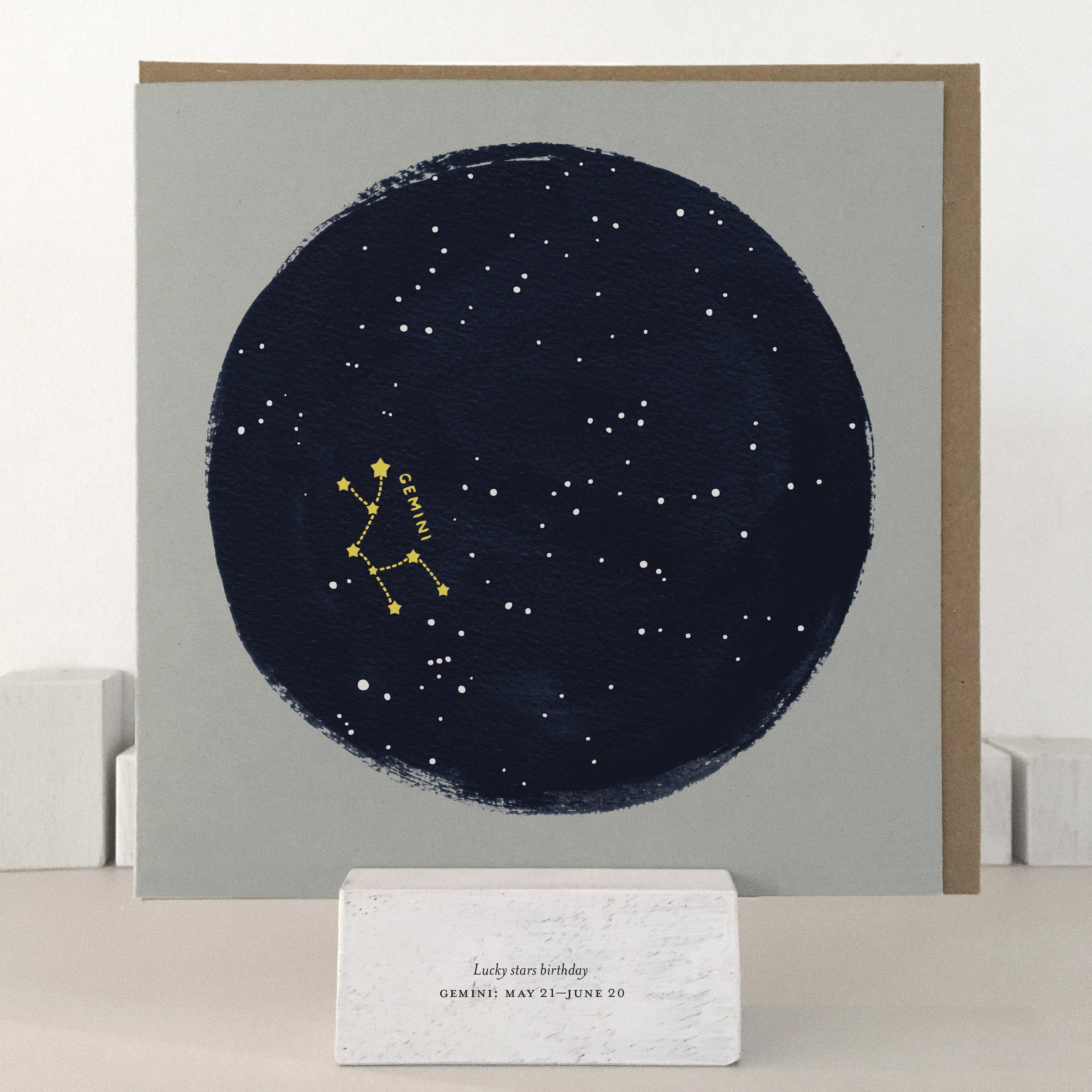 Gemini birthday card: XLSB03_gemini