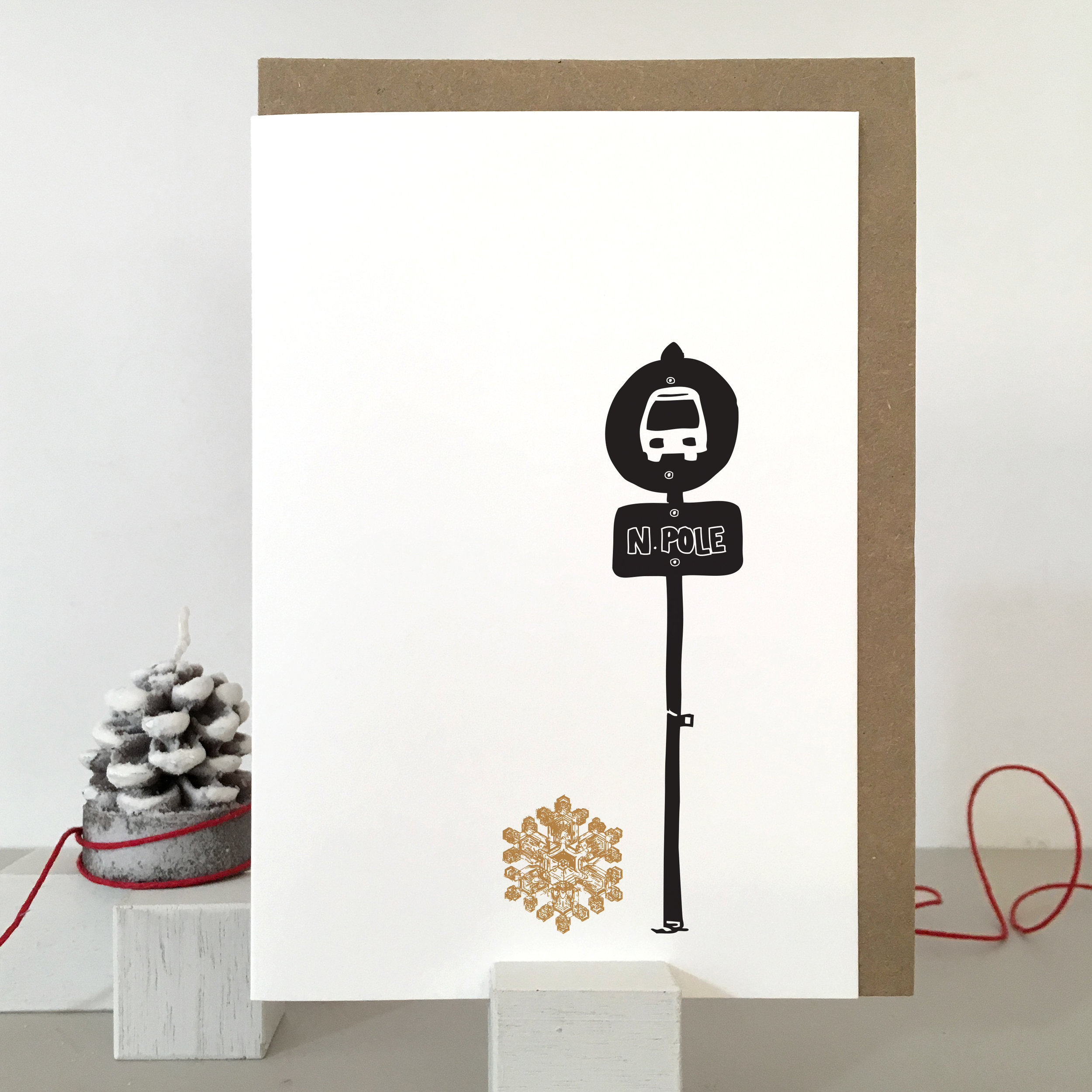 Funny Christmas Card: SF03_north pole