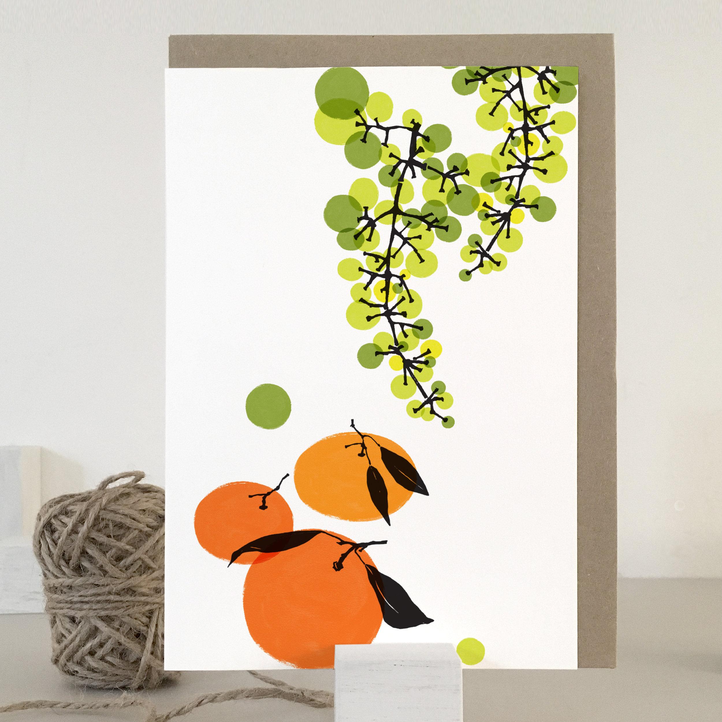 Grapes & tangerines card: TN04_G&T