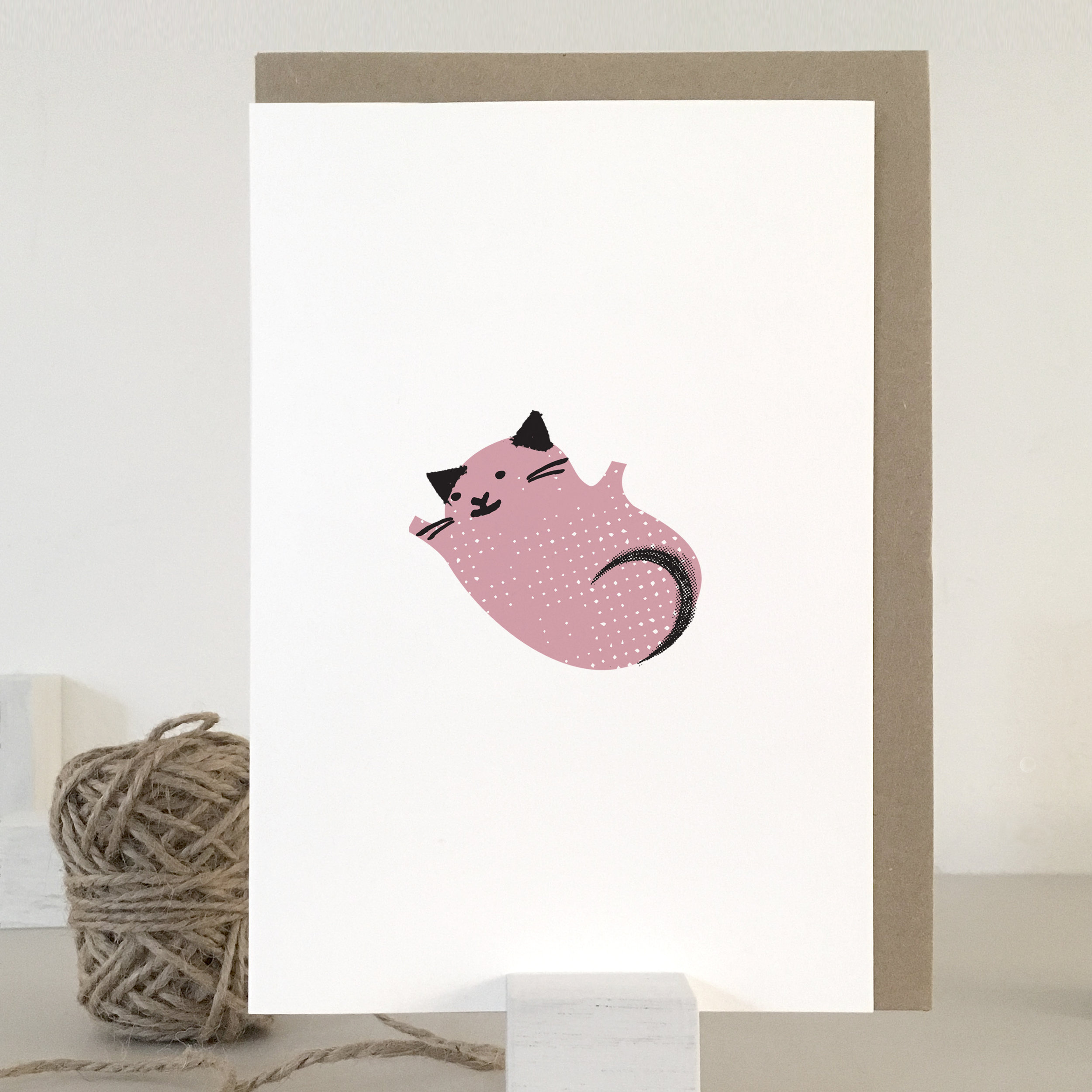 Fur baby, New baby girl card: KC32