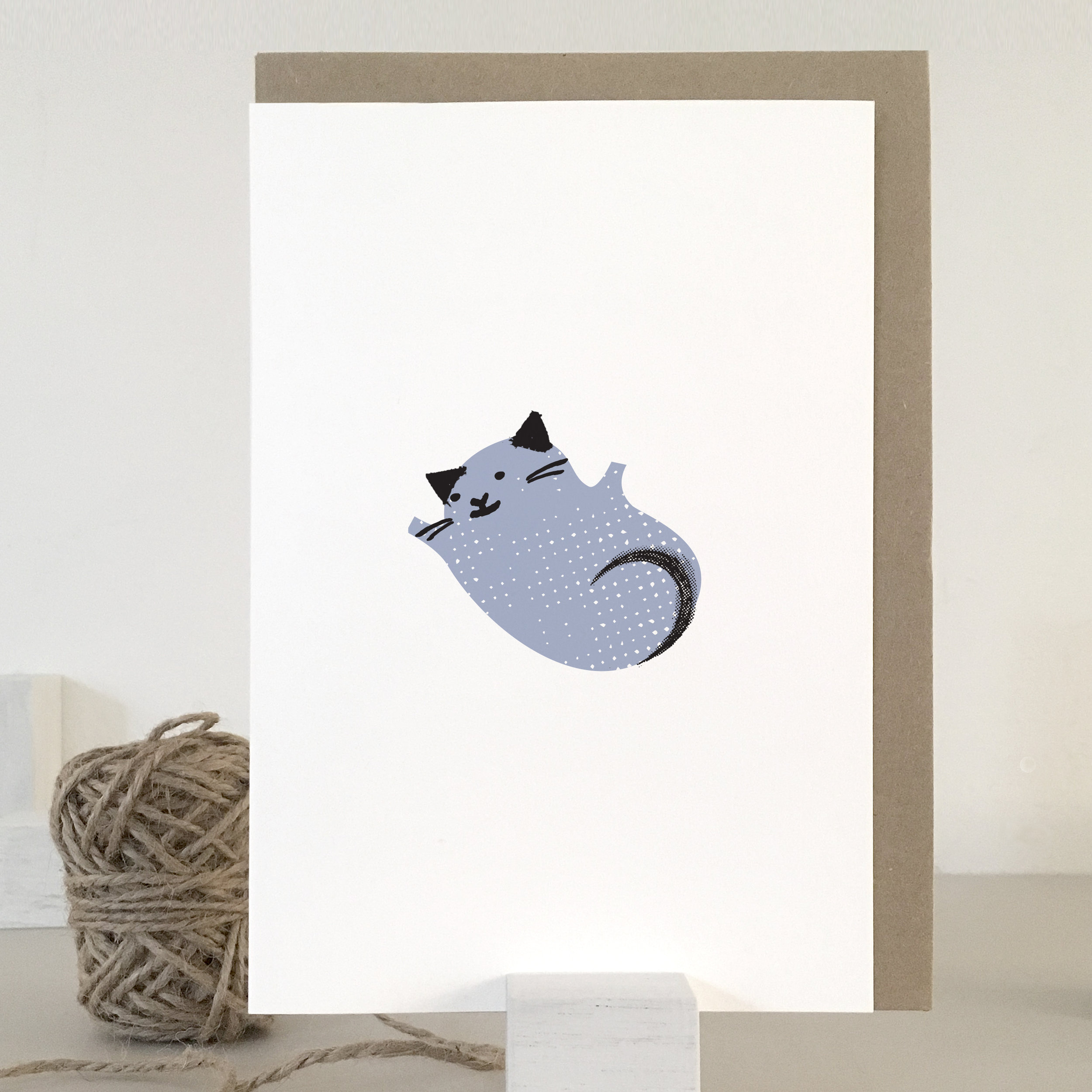 Fur baby, New baby boy card: KC33