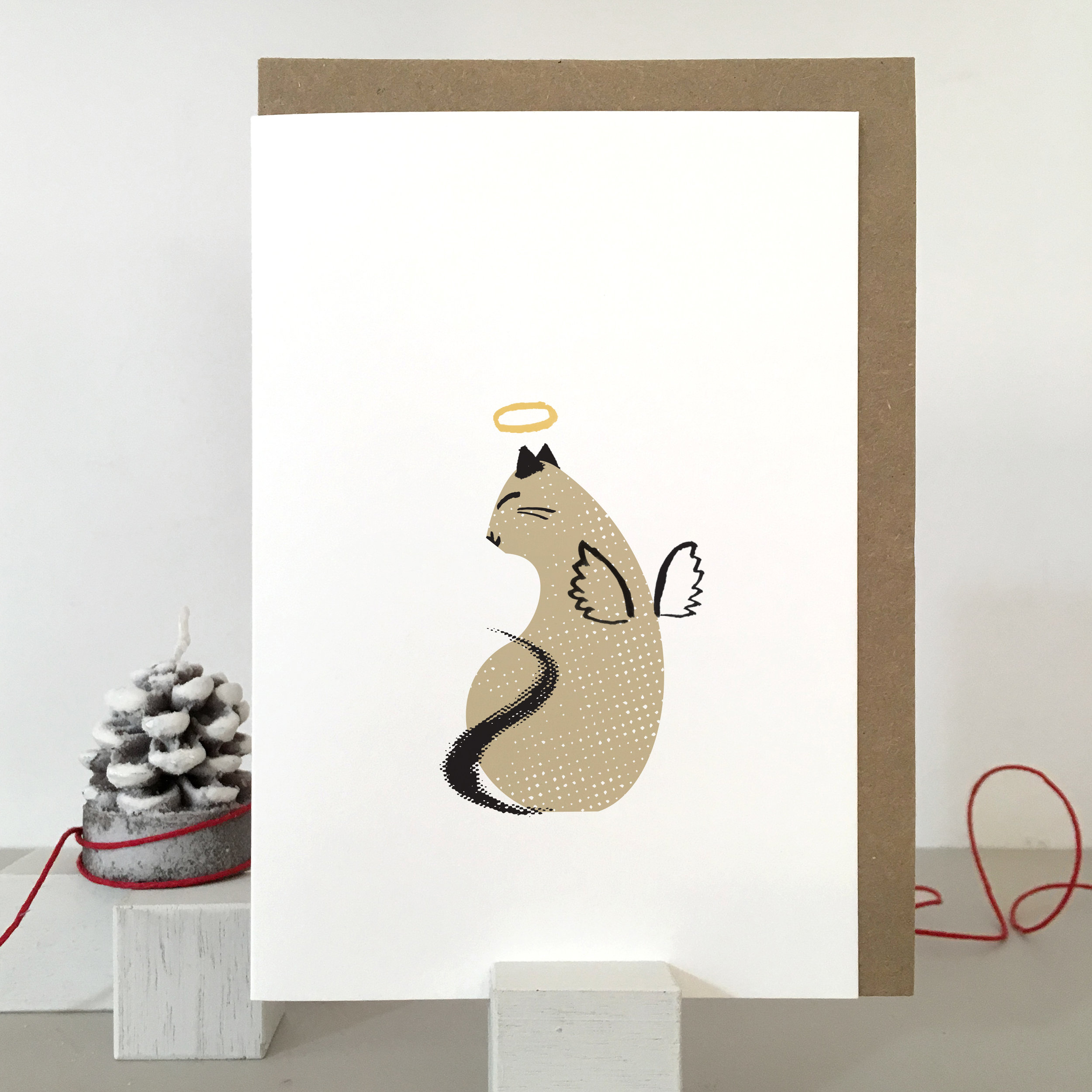 Christmas Cat card: KC41