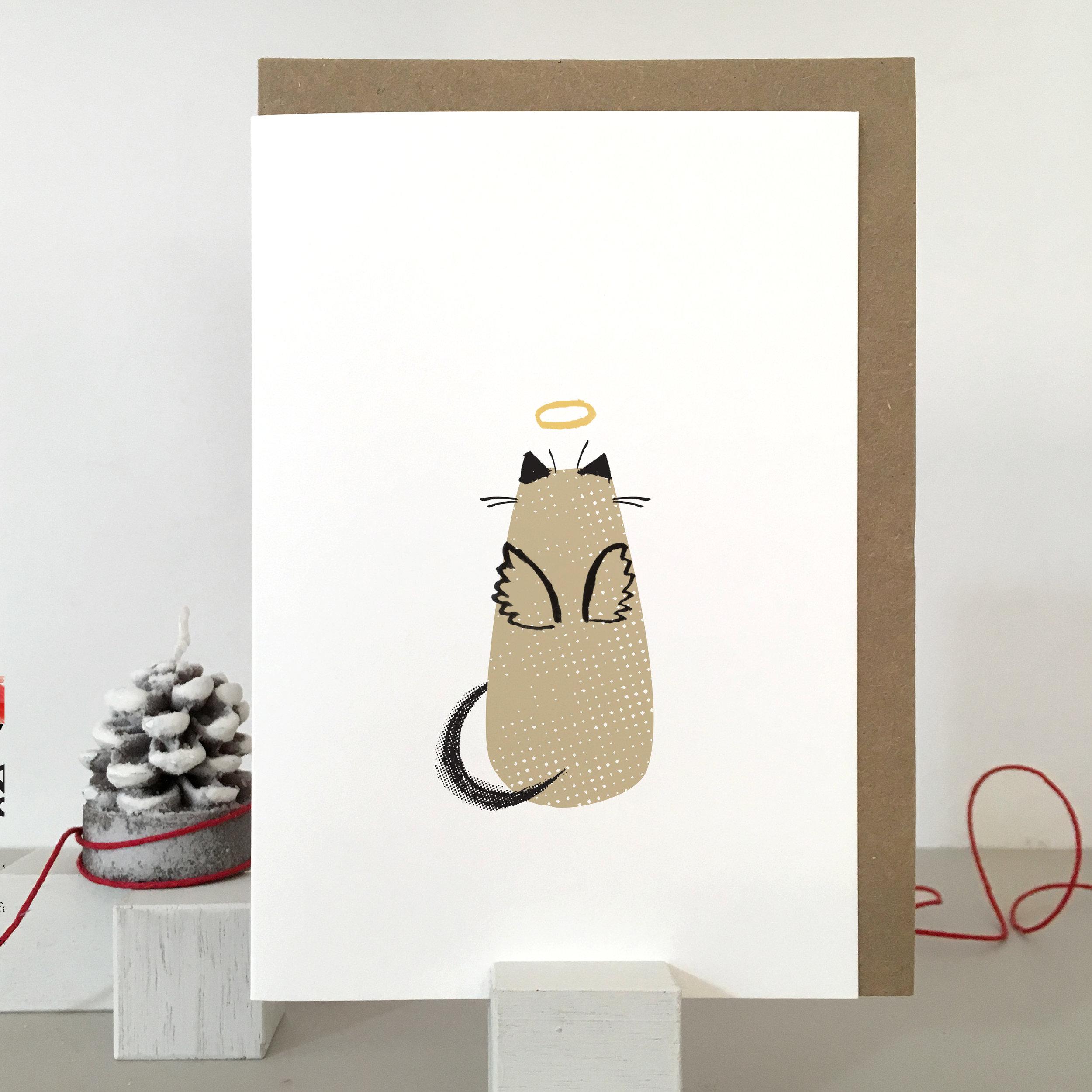 Christmas Cat card: KC42