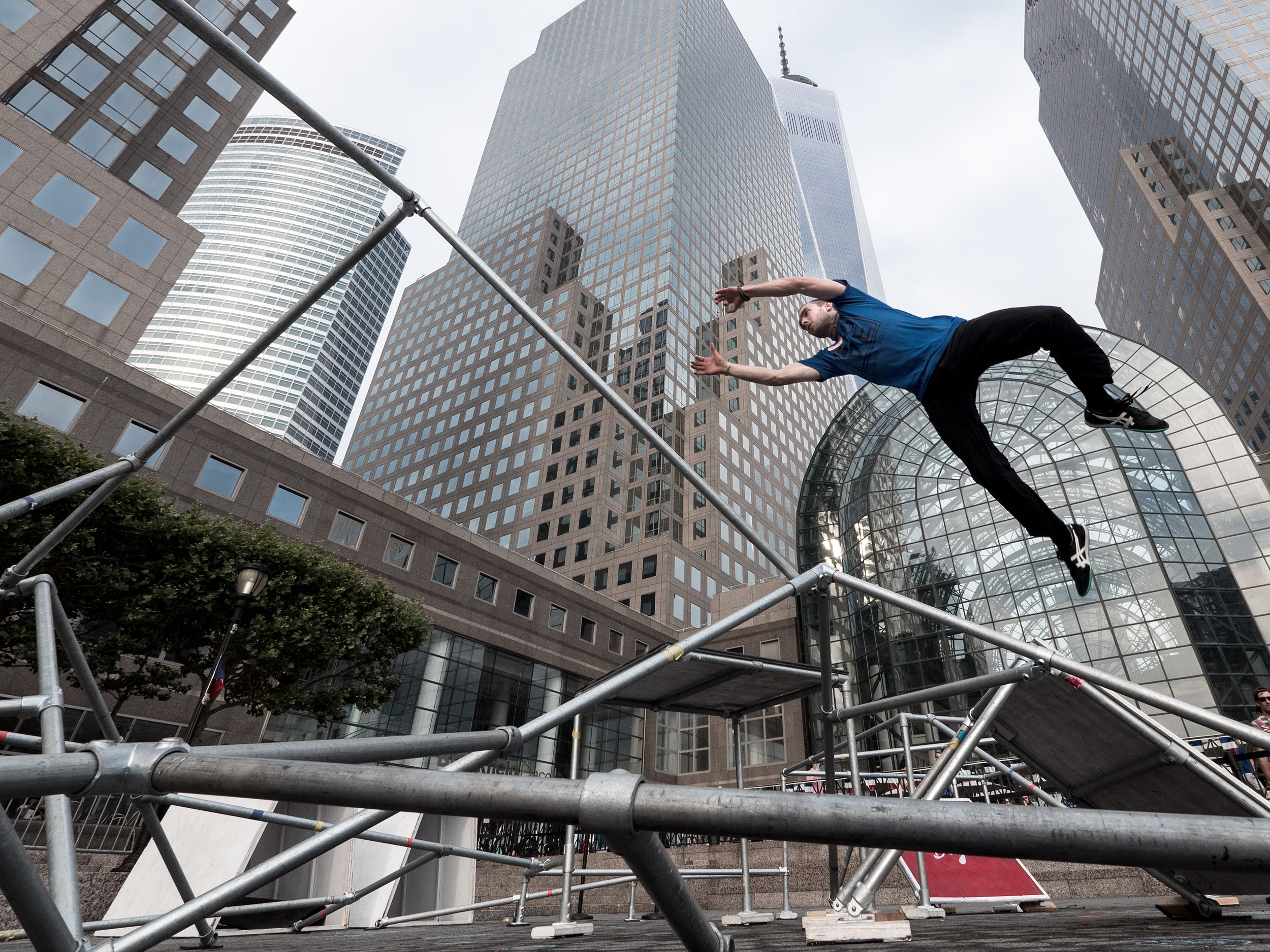 Parkour Origins    Performance Installation  Client: Brookfield Arts Brookfield Plaza, NYC | 2016