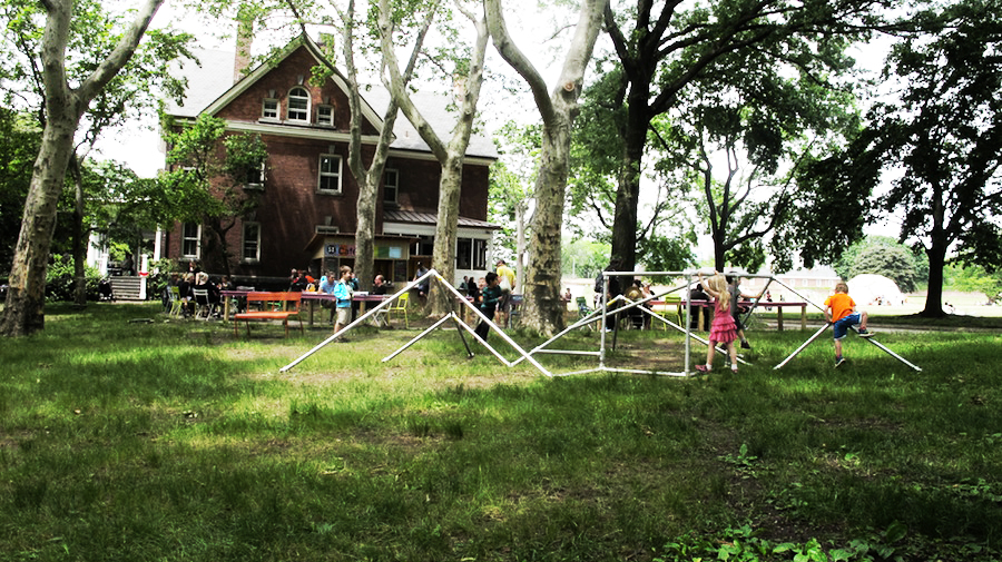 Popup Playground   Playground Installation  Partners: Spontaneous Interventions, The Movement Creative, and The Trust for Governors Island 2015