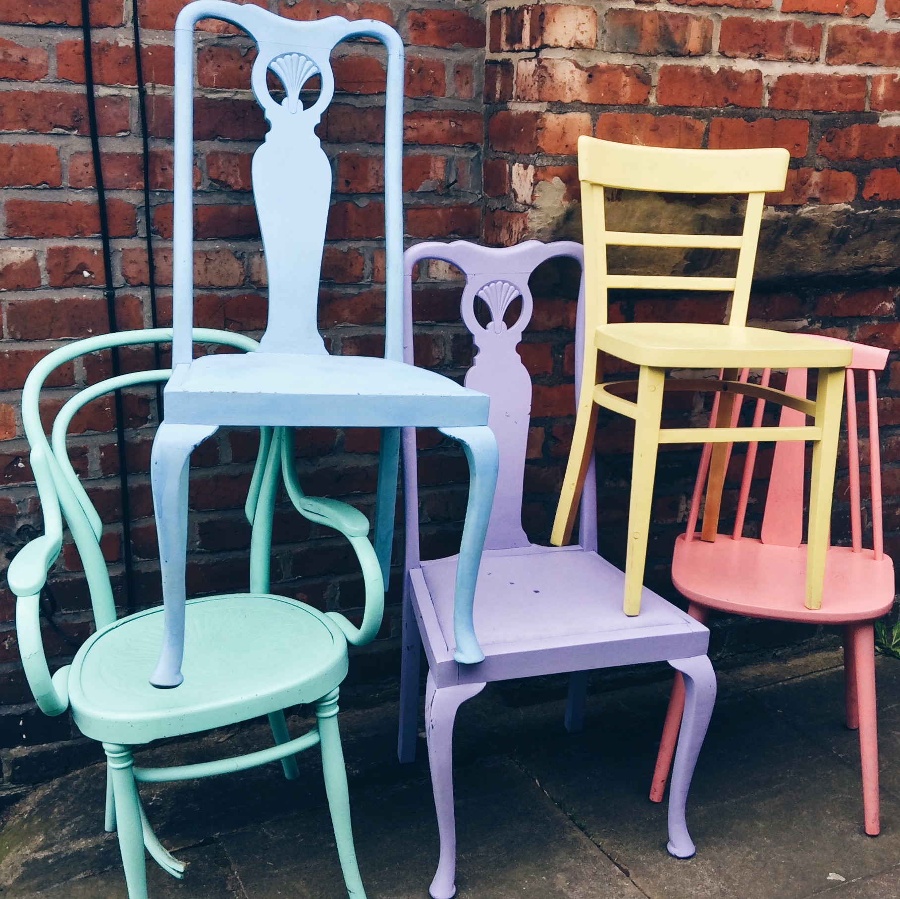 Pastel chairs