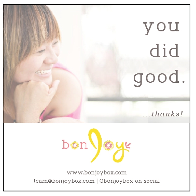 bonJOY  is a subscription box for discovering fashion + beauty + living goods from brands with social impact. They carefully curate products that do good for trafficked, exploited, and at-risk women around the world.    Photo  was used for promotional items in print and across social media platforms.  Taken by V. Kong.