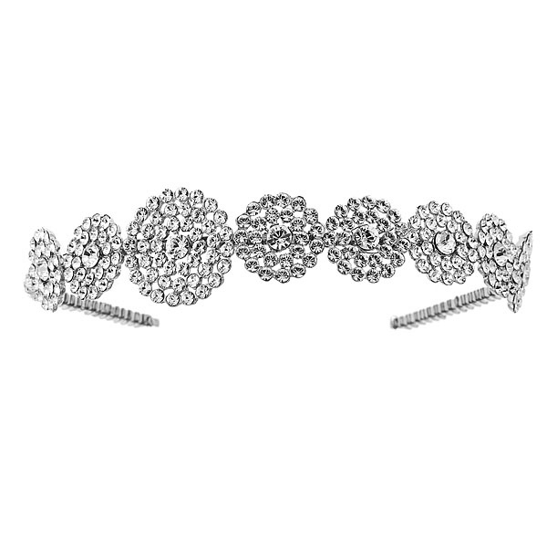 NATALIE  Headband of Swarovski crystals Details: Available in gold and silver finish