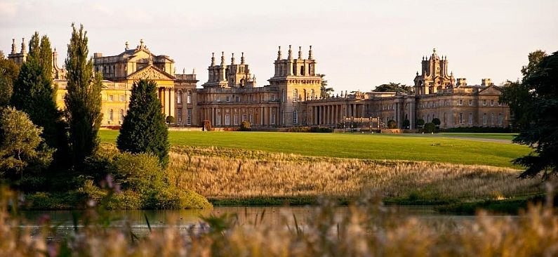 Magnificent Blenheim Palace, the historic country home in the Oxfordshired Cotswold.Picture credit: Lovingthecotswold