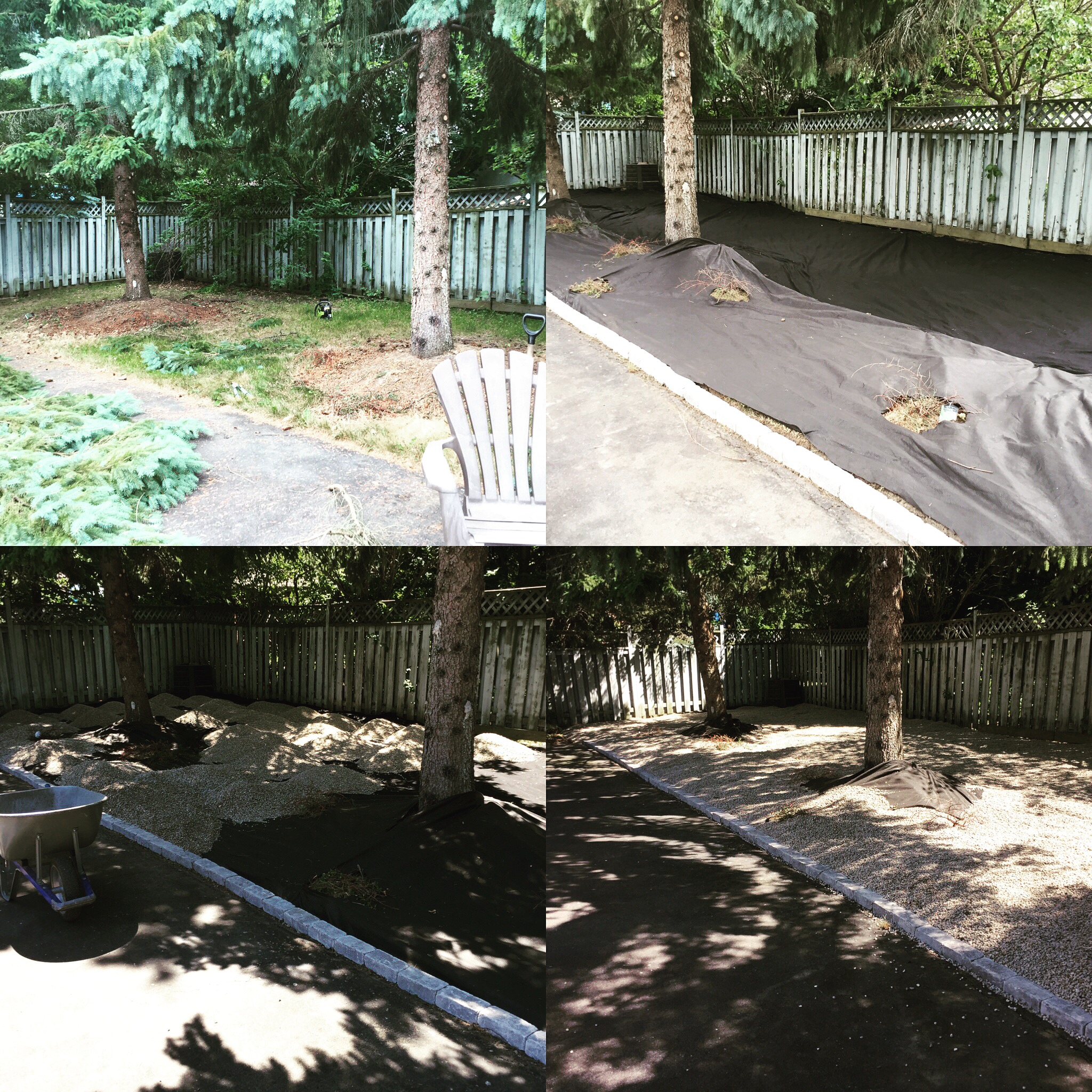 Grass removal and garden building
