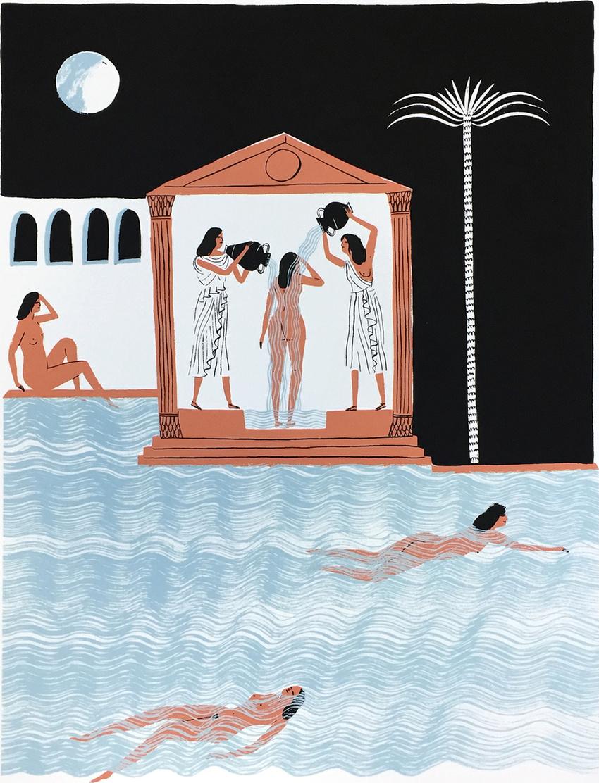 aloofshahbanou :       Bathers   by Kay Blegvad
