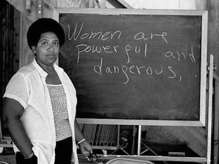 indigopalms :      indigopalms    Audre Lorde (1934-1992)   Poet, Professor, Feminist, Writer, Civil Rights Activist and all round Bawse