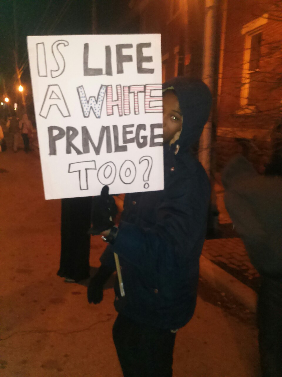faundlie :     The most poignant sign I saw during the Columbus protests today.