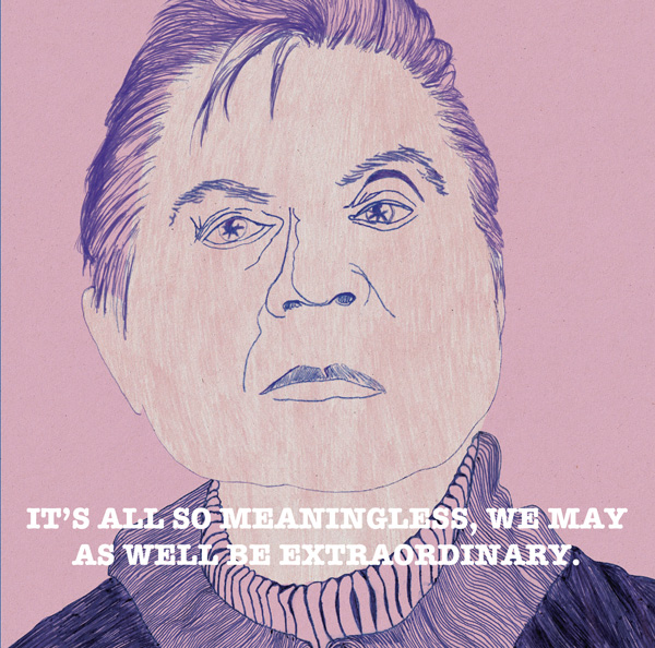 explore-blog :     Legendary artist  Francis Bacon 's  conflicted and creative life, illustrated .
