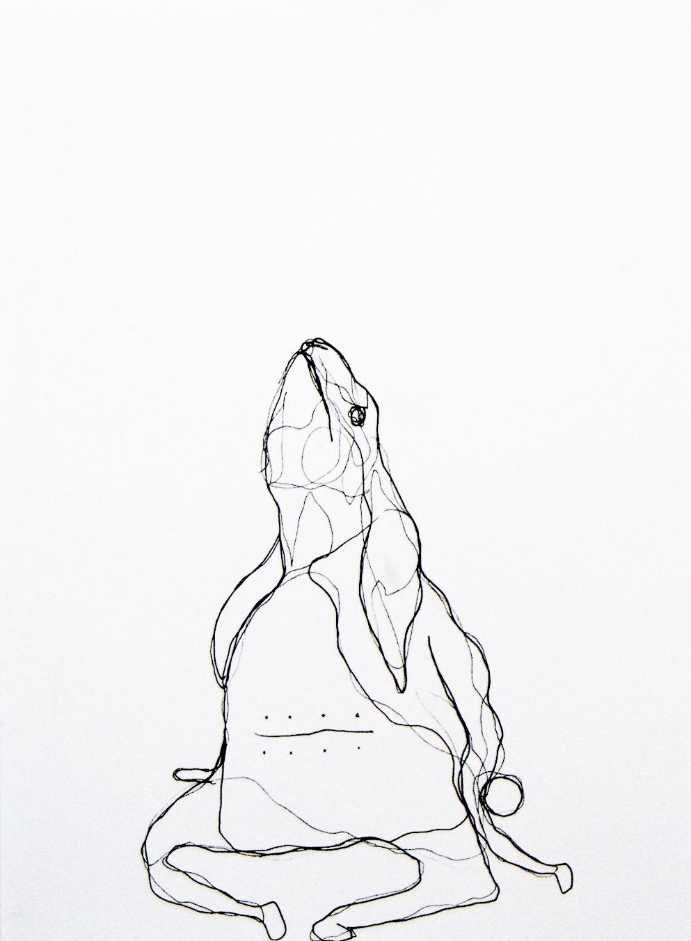 "Kate Donovan , Damned , Pen on Paper, 8 x 11"", 2017"