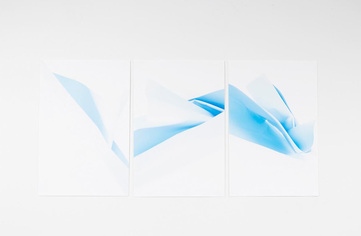 "Christine Miller,  Paper Landscape , 2016 3 17""X22"" cropped prints Digital Photography"