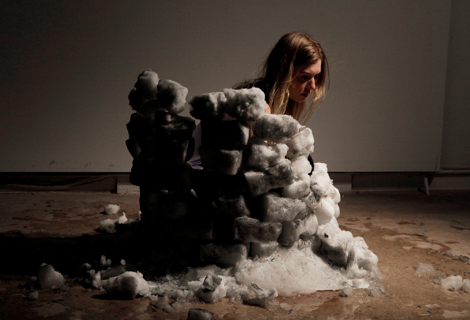 Katarina Tkaczyszyn,  Stages No. 1   (snow). Dimensions Variable. Performance. 2015.