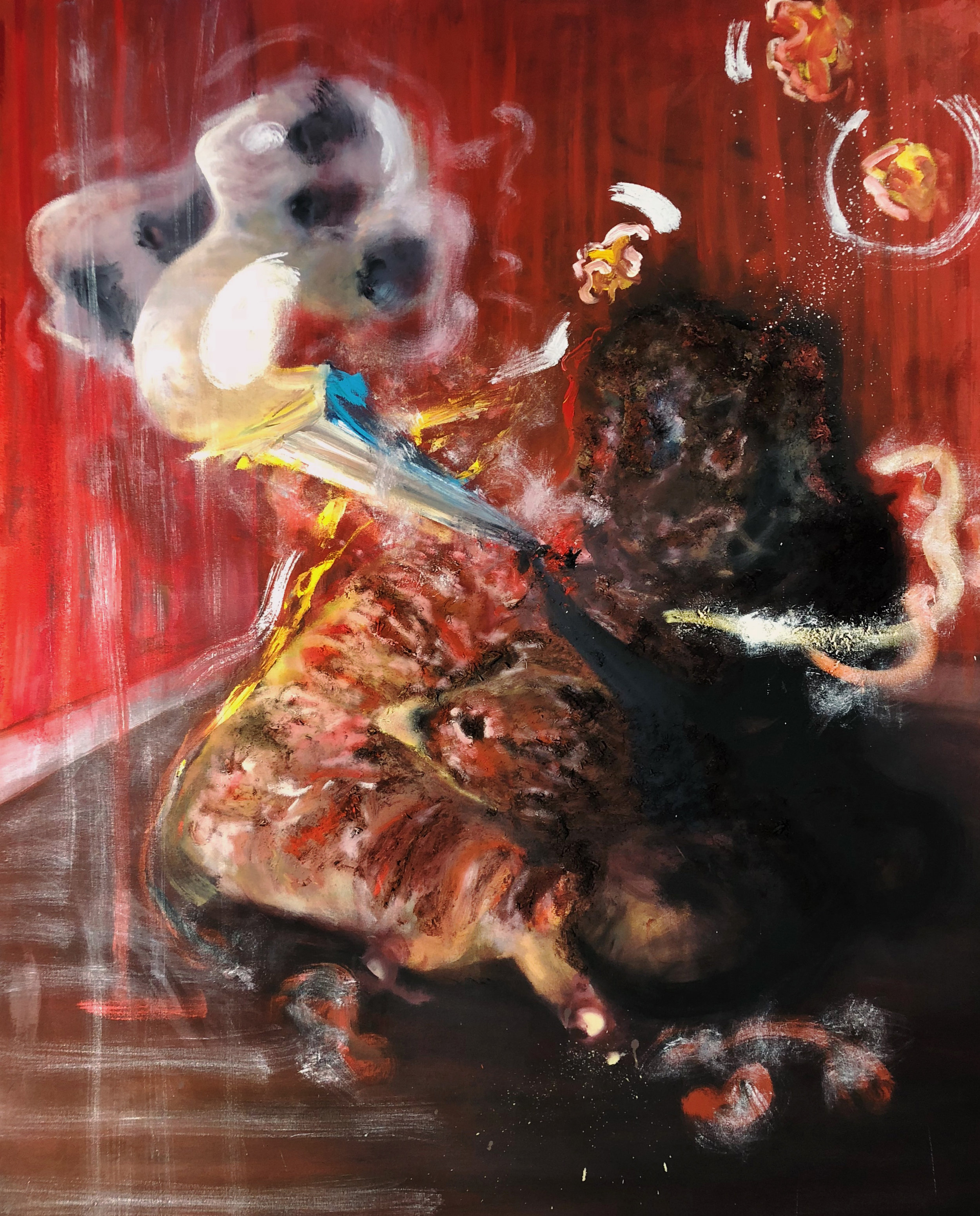 Katherine Wyatt,  Figure in a Room I , Oil on canvas